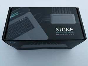 Stone - USB-C Multi-Port Desktop Hub for MacBook - Mini DisplayPort, Ethernet Port, Power Supply, 3 USB Ports, USB-C Port, Connections for Sale in Los Angeles, CA