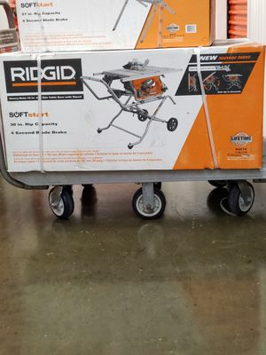 Rigid 10 Inch Table Saw With Stand Model#(R4514) for Sale in Philadelphia, PA