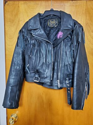 Leather Fringed Jacket for Sale in Beaver Falls, PA