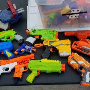 $5 Each Or $40 For All Nerf Guns for Sale in Houston, TX