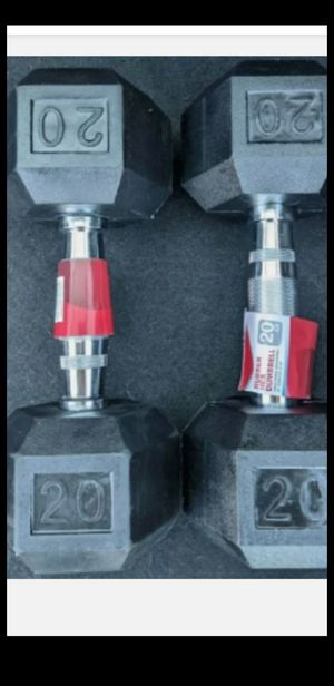 🔥 New 20 lb Pair CAP Weider Hex Rubber Coated Dumbbells Set Total 40 lbs Pounds🔥 for Sale in Torrance, CA