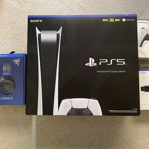 PlayStation 5 (digital), DualSense controller, HD Camera, Headset for Sale in Centreville, VA