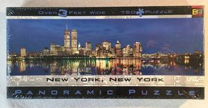 New York, NY Panoramic 750 Piece Puzzle Featuring World Trade Centers - Circa 2000 Buffalo Games for Sale in Centerport, NY