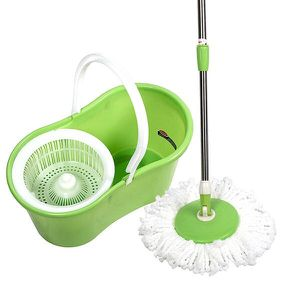 New in Box Spin Mop 360 Rotating Head Magic Floor Mop with 2 Microfiber Heads for Sale in La Mirada, CA