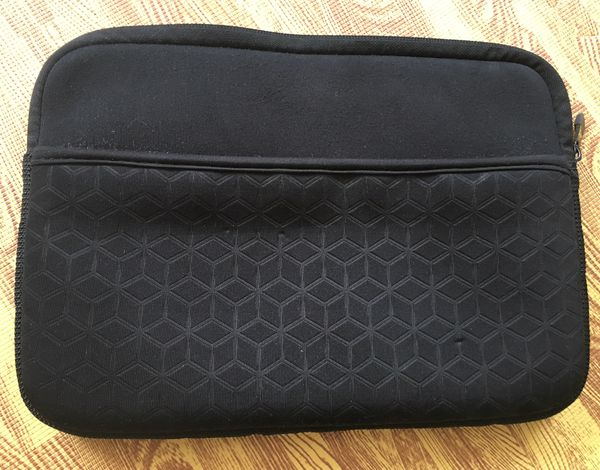 "HP 10.2"" mini notebook padded sleeve neoprene with zipper and side compartment"