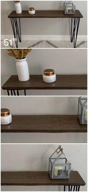 Solid Wood Live Edge Hairpin Legs Console Table Tables Stand Stands Dining for Sale in Modesto, CA
