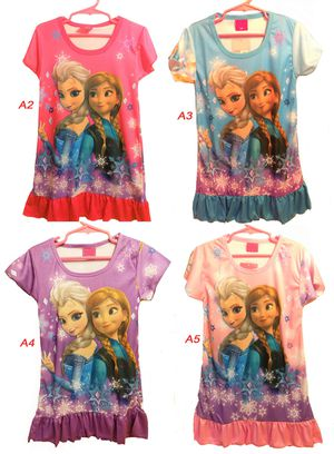 New w/ Tag Frozen Elsa Anna short sleeve night gown pajama sleepwear lounge for baby girls toddlers kids for Sale in Boston, MA