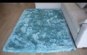 Baby blue light blue soft shag 5x7 shaggy shag area rug for Sale in Los Angeles, CA