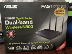 Asus wiFi router RT-N66U dual band for Sale in Gilbert, AZ