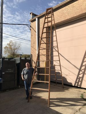 """12' Wood """"A"""" Frame Ladder for Sale in Des Plaines, IL"""