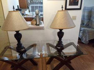 2 set lamps very heavy home free smoke not pet for Sale in Hudson, FL
