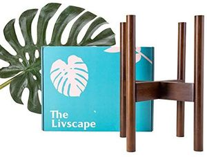 The Livscape Outdoor and Indoor Plant Stand - Durable, Heavy Duty, Adjustable Hardened Bamboo - Fits Medium to Large Planters and Flower Pots for Sale in Sacramento, CA