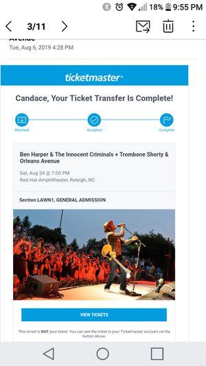 2 Ben Harper Tickets for Sale in Raleigh, NC