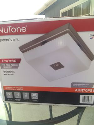 Nutone fan with led light for Sale in Riverside, CA