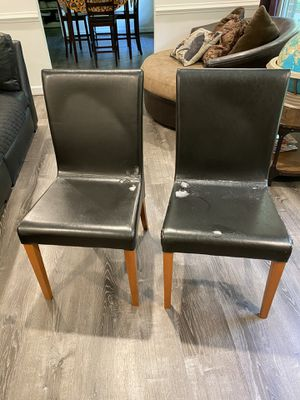 Faux leather Parsons Chairs - FREE for Sale in Manassas, VA
