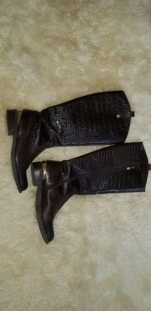 Vince Camuto Crocodile Leather Boots 8M for Sale in Boynton Beach, FL