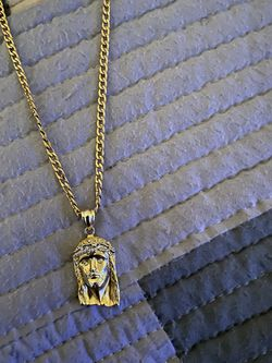 925 Gold Jesus Face Chain for Sale in Tampa,  FL