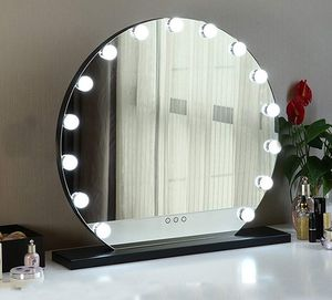 """New in box $100 Round 24"""" Vanity Mirror w/ 15 Dimmable LED Light Bulbs Beauty Makeup (White or Black) for Sale in Pico Rivera, CA"""