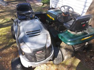 Tractor Lawn Mowers Mower Craftsman Lt 1000 Lt 2000 need work for Sale in Berkley, MA