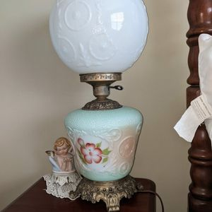 Two large hurricane parlor lamps vintage for Sale in Mt. Juliet, TN