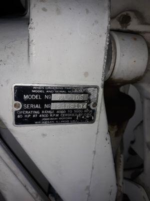 60 hp Johnson boat motor for Sale in Medical Lake, WA