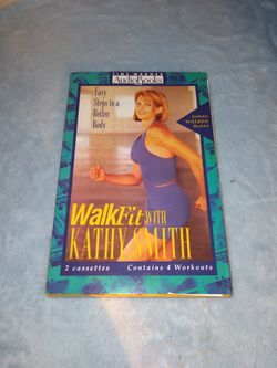 Audio Books ... Walk Fit with KATHY SMITH ... 2 cassettes... contains 4 workouts for Sale in Killeen,  TX