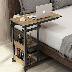 Tribesigns Snack Side Table, Mobile End Table Height Adjustable Bedside Table Laptop Rolling Cart C Shaped TV Tray with Storage worth $149 for Sale in Anaheim, CA
