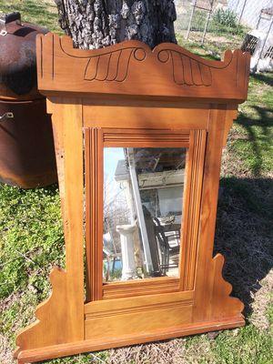 1800s antique mirror for dreaser oak for Sale in Clarksville, TN