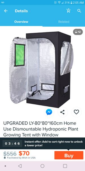 Brand New (NRFB) Indoor Plant Growing Tent with Window for Sale in Denver, CO