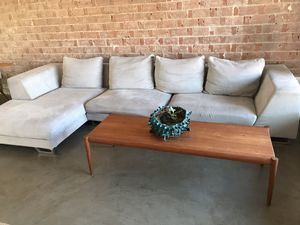 Gray fabric sectional couch for Sale in Scottsdale, AZ