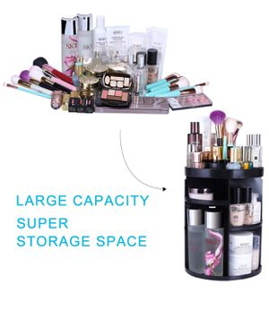 ☝️ Makeup Organizers 360 Rotating Adjustable Cosmetic Storage Box Case Large Capacity Make Up Holder Vanity Shelf Fits Countertop Bathroom Kitchen Of for Sale in Modesto, CA