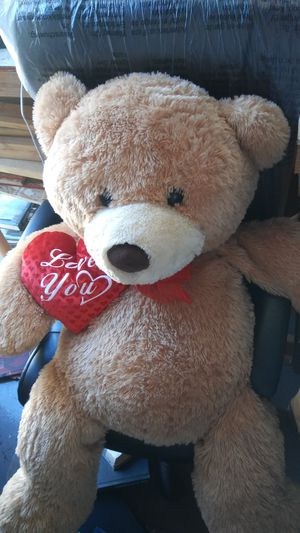 "Big teddy bear with ""Love You"" heart for Sale in Ontario, CA"