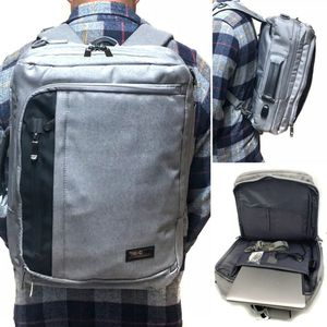 Brand NEW! Grey Multipocket, Sturdy,tech Backpack Converts to Messenger/Crossbody/Shoulder Bag For Traveling/Hiking/Biking/School/Work/Everyday Use for Sale in Carson, CA