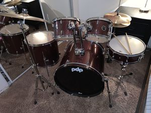 PDP 5- piece drum set (maroon) for Sale in Brea, CA