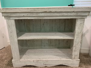 Farmhouse white shelf/ bookcase for Sale in Crosby, TX