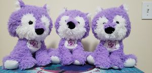 set of 3 Greatwolf lodge plushies for Sale in Lynnwood, WA