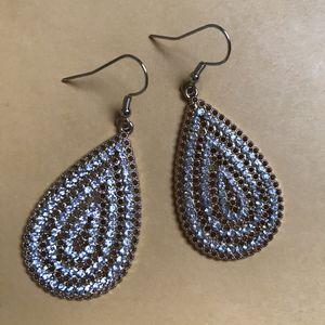 Clear diamond stone dangle earrings for Sale in Columbia, SC