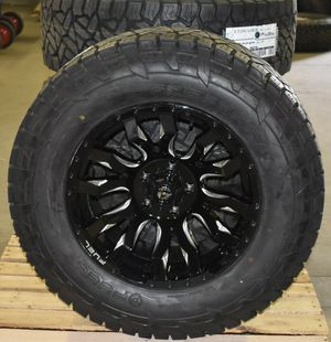 "18x9 Fuel D673 Blitz Black Wheels Rims 33"" AT Tires 5x5 Jeep Wrangler JL JK for Sale in Tampa, FL"