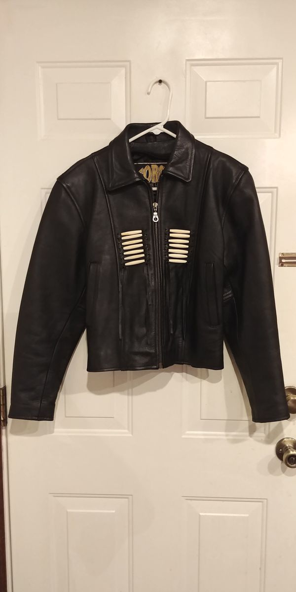 Women's Force Leathers Indian Beaded Motorcycle Jacket