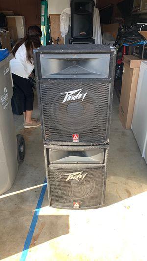 Pair of Passive Peavey PA speakers 12 inch for Sale in San Jose, CA