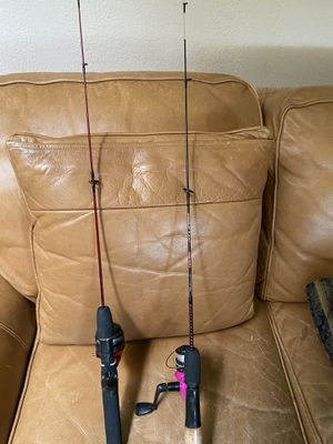2 children's fishing poles - one handle is missing off the reel both $10 for Sale in Fresno, CA