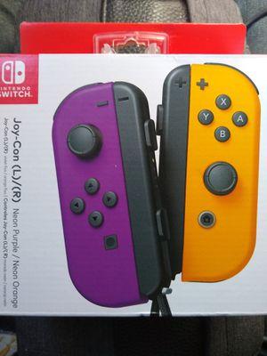 Nintendo Switch Joy-Con (L)/(R) Controllers *Neon Purple & Neon Orange* for Sale in Federal Way, WA