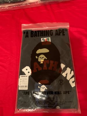 Bape blue camo college shirt size large for Sale in Los Angeles, CA