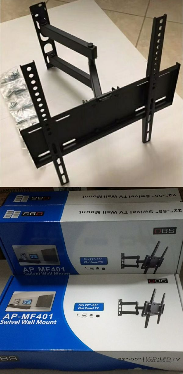 New in box Universal for 22 to 55 inch tv sizes tilt adjustable swivel full motion tv television wall mount includes TV bracket hardware and screws