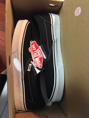 Brand new Black classic slip on vans shoes size 10 for Sale in Des Moines, WA