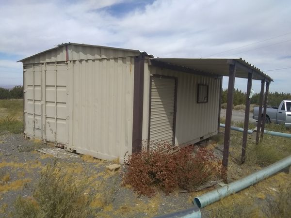 20'x16'x8' SOLID STEEL GARAGE/WORKSHOP