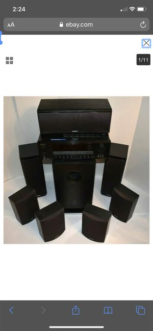 9 piece Onkyo Stereo Surround Sound Audio Speaker System for Sale in Suwanee, GA