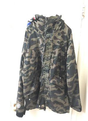 Bape bathing ape lightweight shell jacket for Sale in Fort Washington, MD