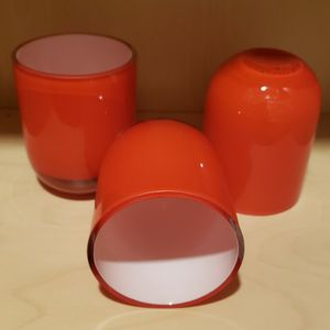 """4"""" RED GLASS TRIO VOTIVE CANDLE HOLDERS for Sale in Rockdale, IL"""