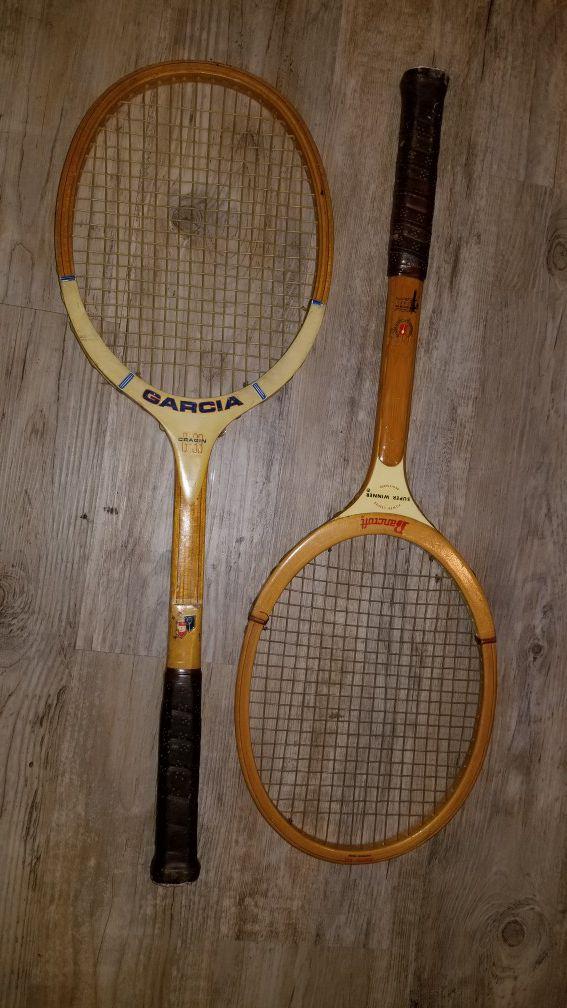 Wood classic tennis racket